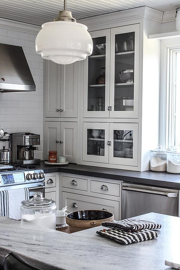 Melinda McCoy of House 214 Design features Polycor's honed White Cherokee American marble in her home kitchen