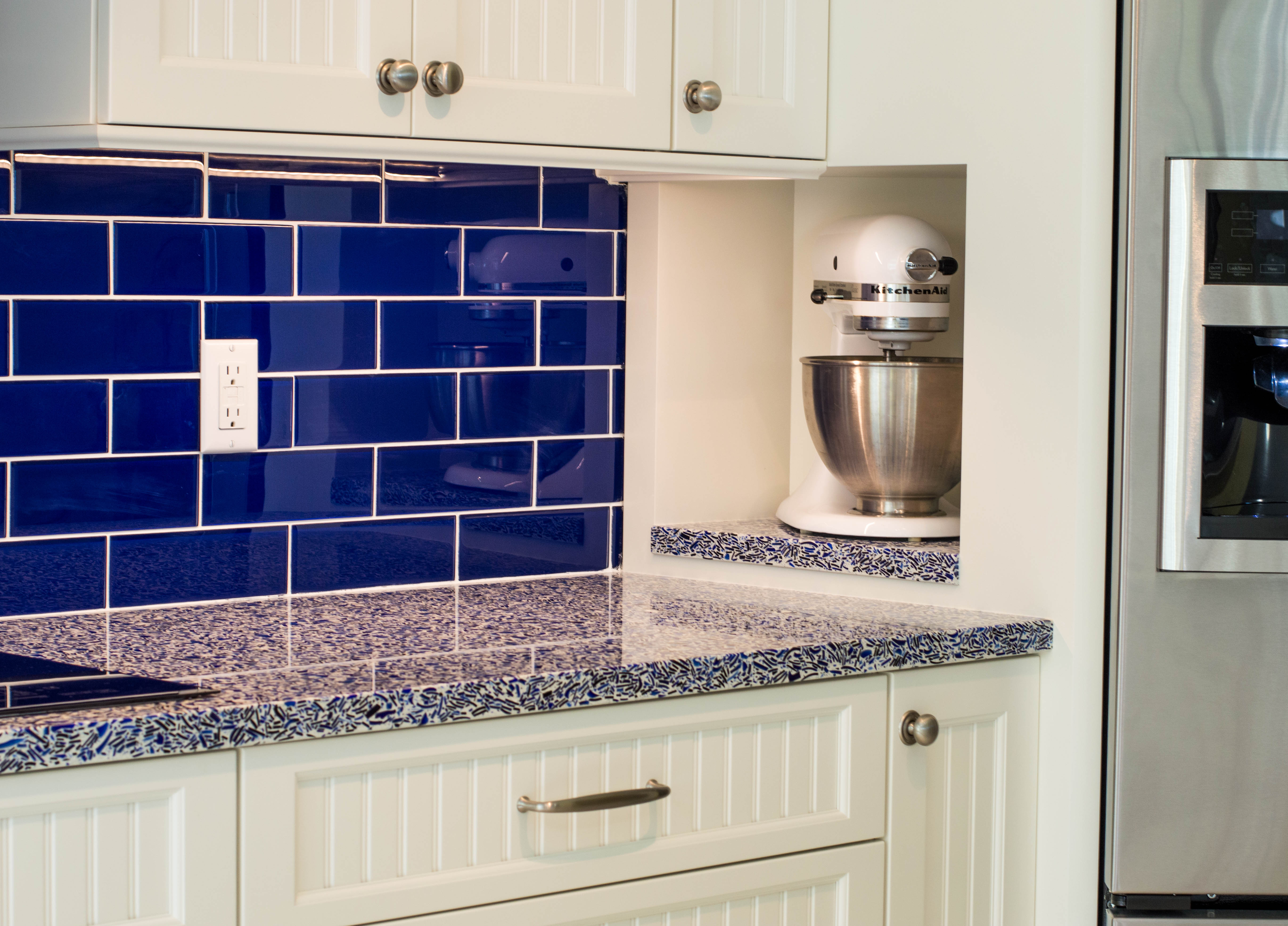 4-waterview kitchens featuring crystal cabinets and vetrazzo recycled glass with creative storage