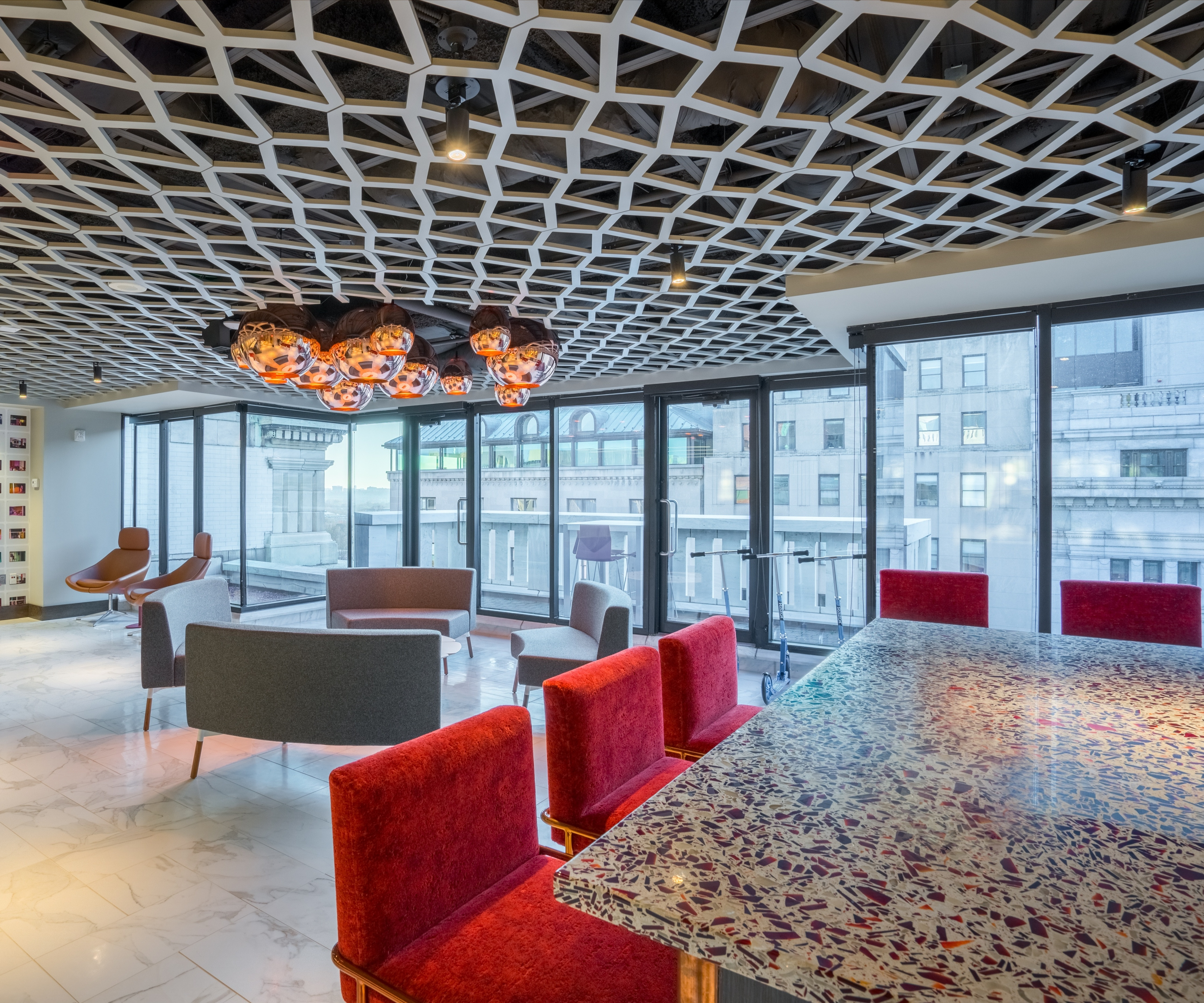 Quicken-loans-vetrazzo-ruby-red-recycled-glass